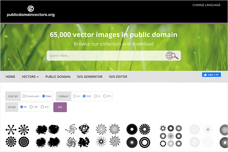 public domain vectors for free images
