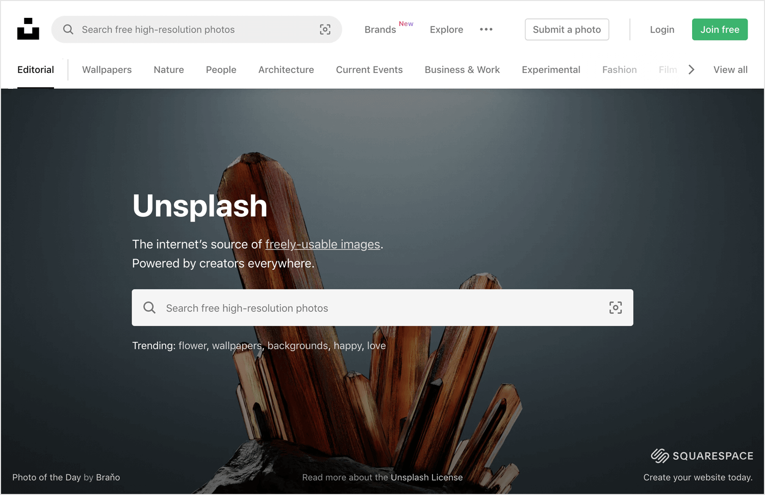 unsplash as place to get free vector images