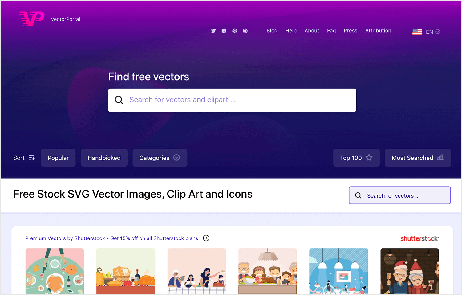 vector portal as place for free images and illustrations
