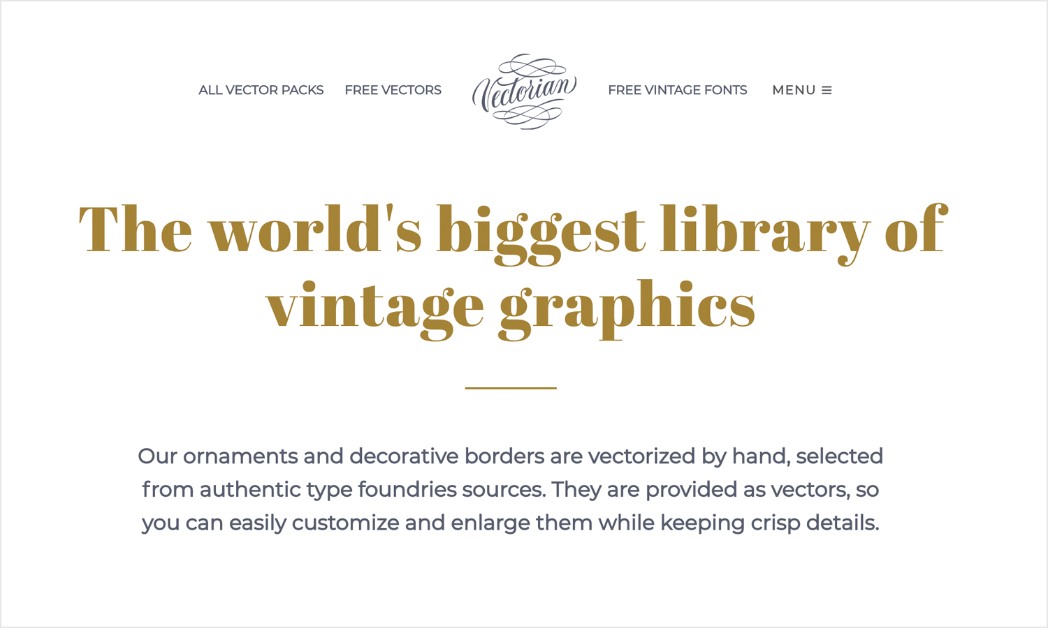 vectorian as place for free vintage style vector images