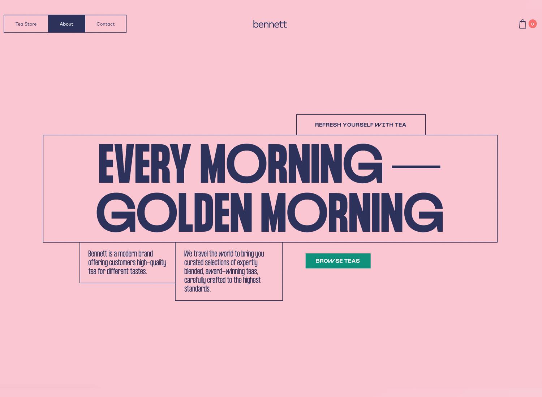 Website backgrounds - Bennett Tea