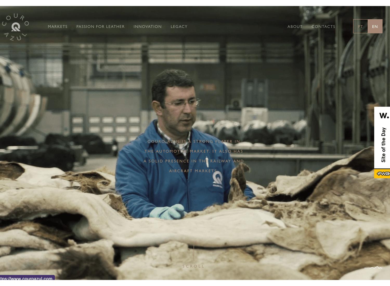 Website backgrounds - Couro Azul