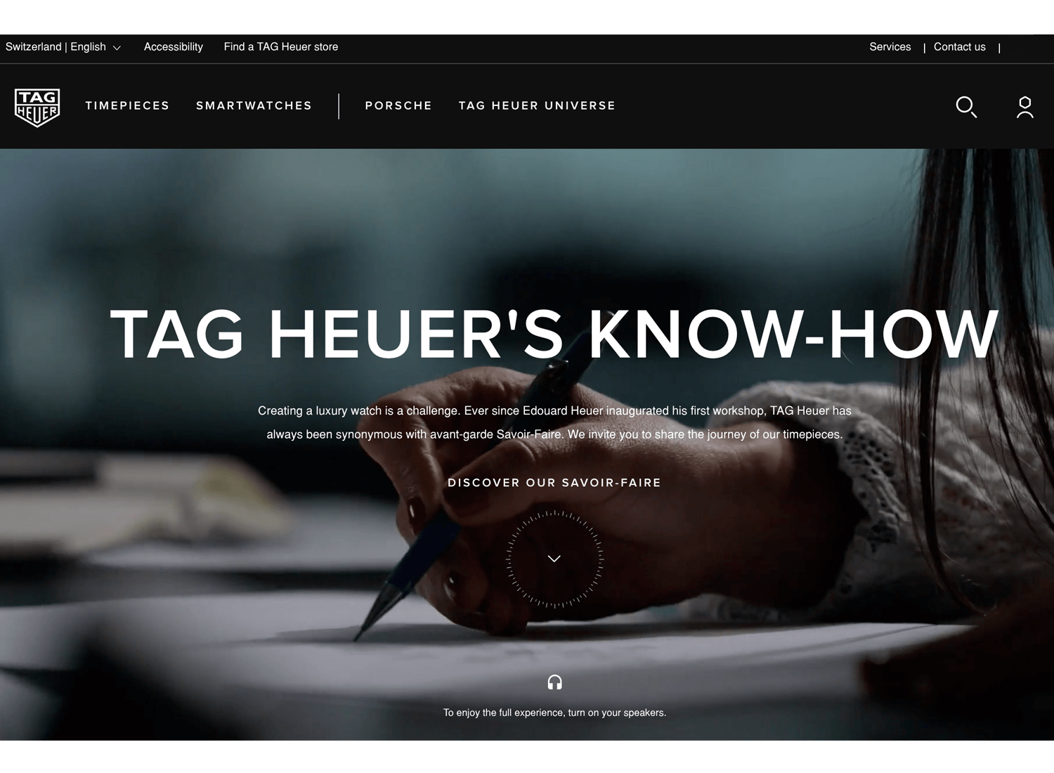 Website backgrounds - Tag Heuer