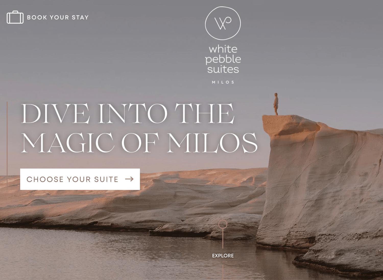 Website backgrounds - White Pebble Suites