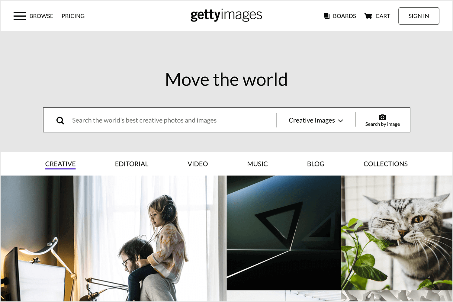 getty images as source of paid backgrounds