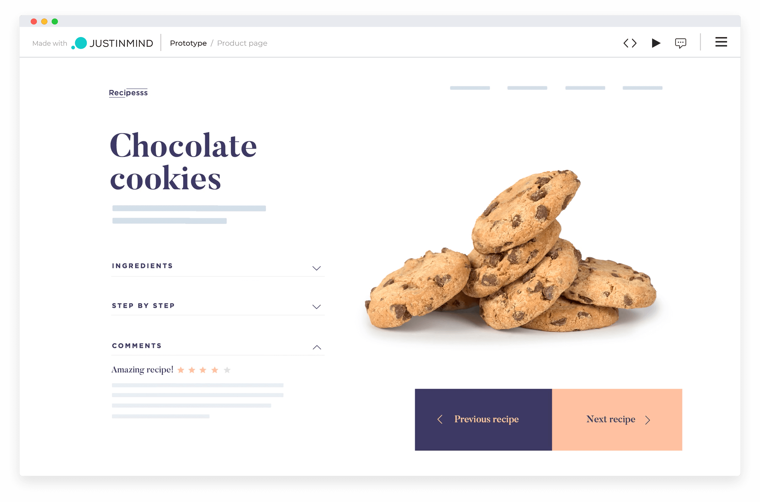 website mockup tool to validate interactions and user flows