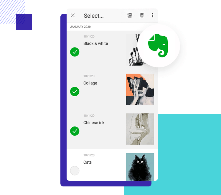 App interaction - long press for multiple selection
