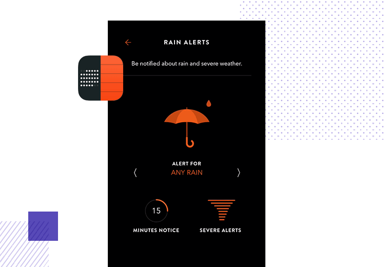 App interaction - Timepage