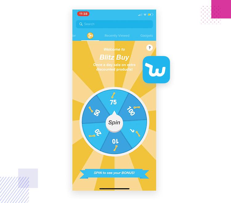 App interaction - Wish