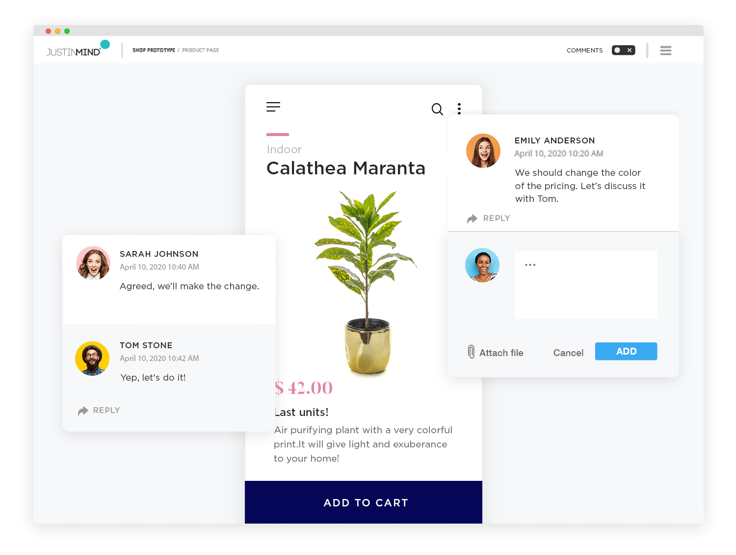 collaboration in interactive mockups