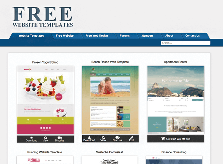 Free PSD website mockups - Free Website Templates