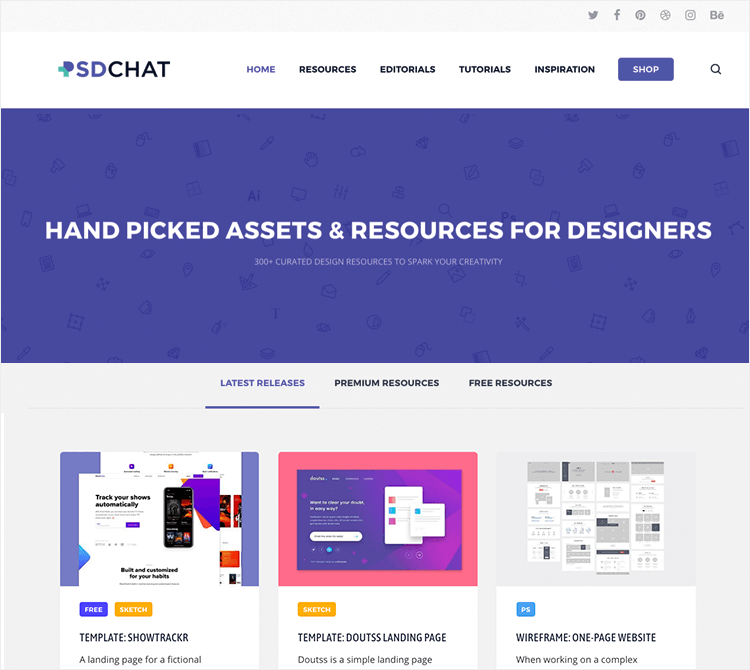 Free PSD website mockups - PSD Chat