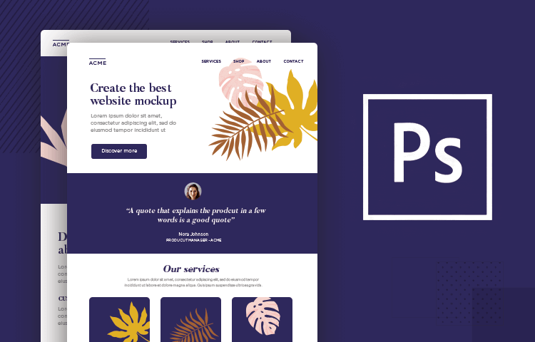 Free PSD website mockups templates to download
