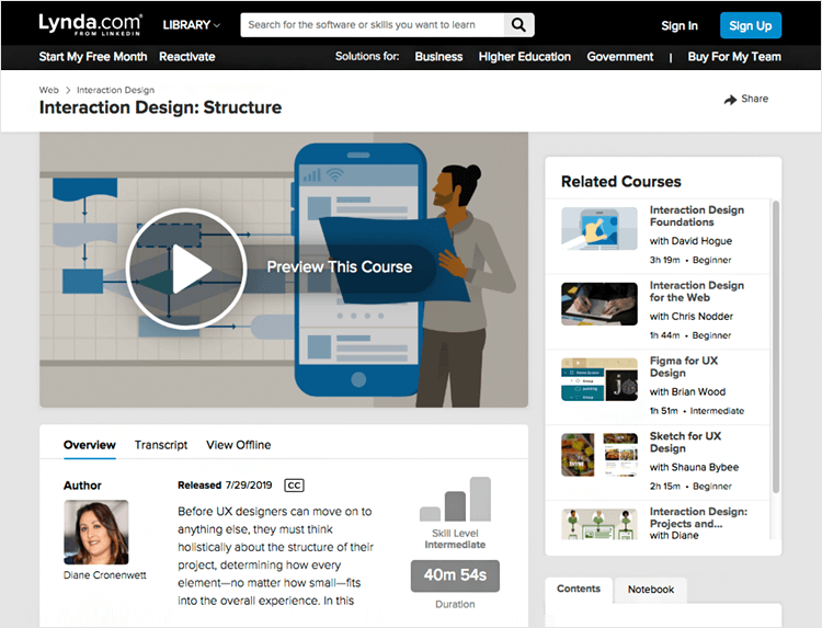 Interaction design courses - Design Patterns as Building Blocks on Lynda