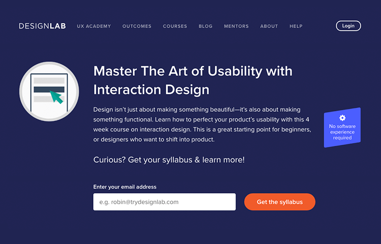 Interaction design courses - Master the Art of Usability on DesignLab