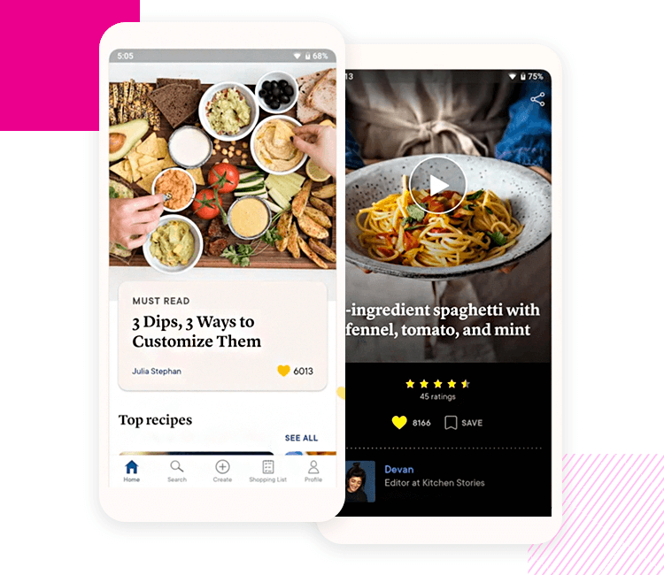 example of mobile interaction - kitchen stories