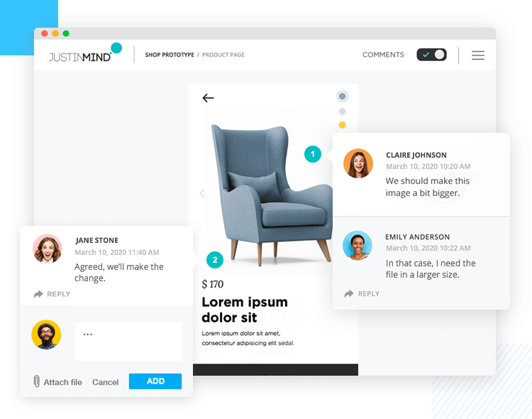 Share prototypes remotely - get feedback from users