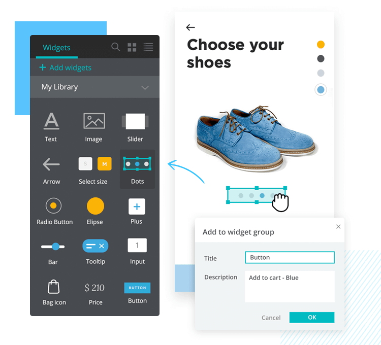 Share UI kits with Justinmind - design