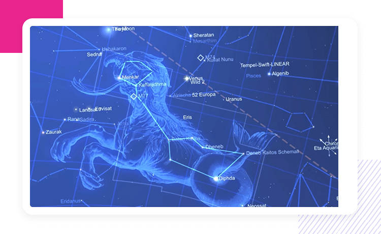 star chart interactive map