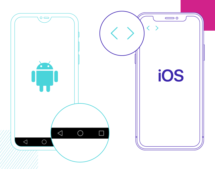 system patterns when designing fro android and ios