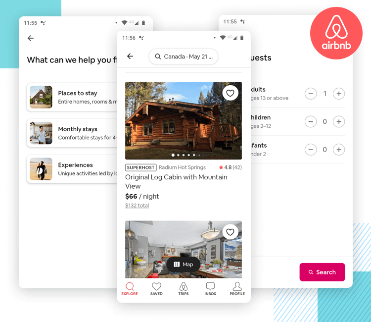 airbnb as one of the best app ui designs