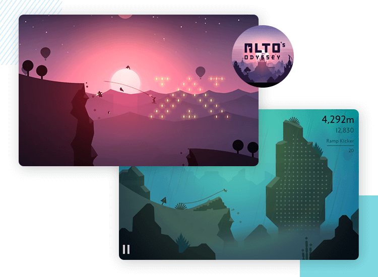 alto's odyssey as best gaming app design
