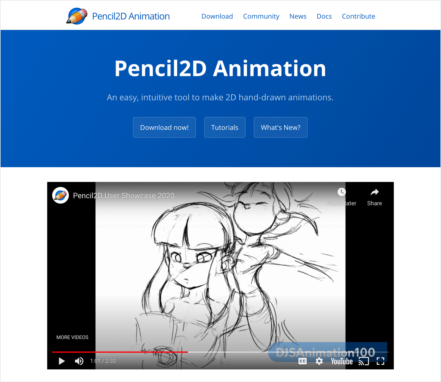 Animation apps for desktop - Pencil2D animation
