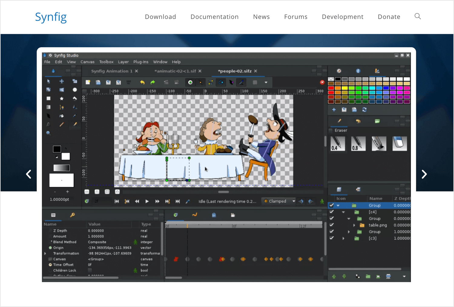 Animation apps for desktop - Synfig Studio