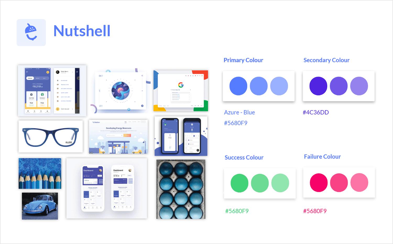 App mood board example - UI design system