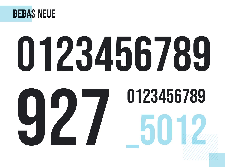 Best number fonts - Bebas Neue