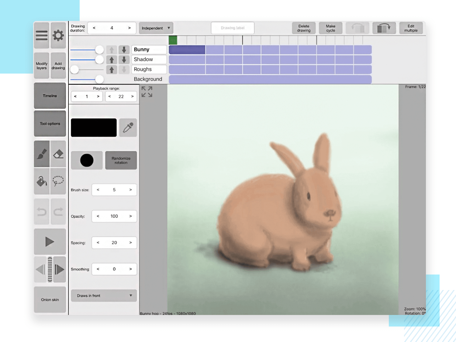 Best animation apps for PC - RoughAnimator