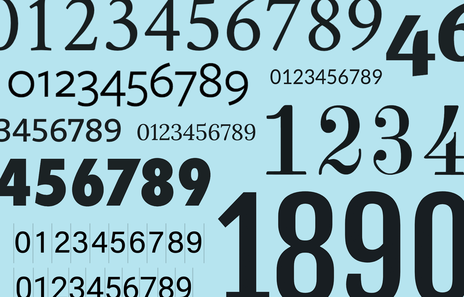 the best number fonts both free and paid