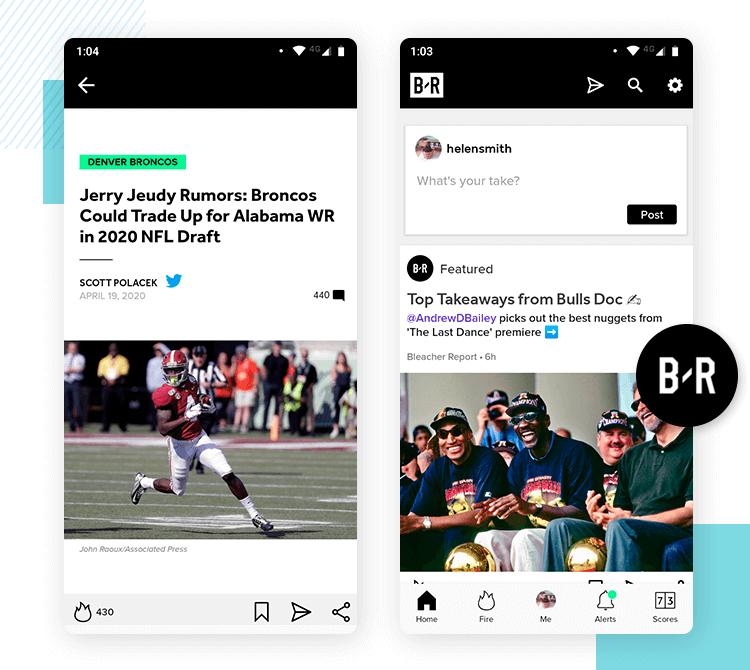 bleacher report as best news app design