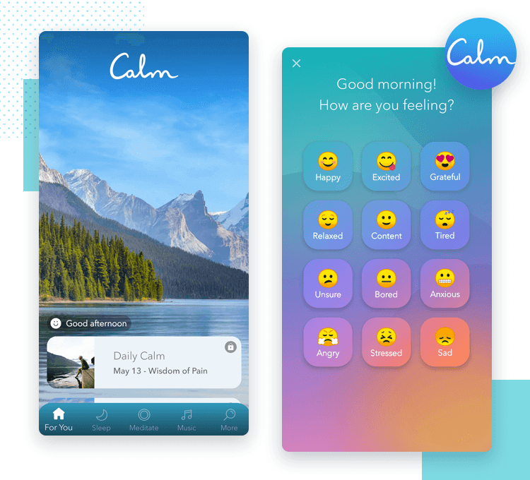 calm interface design as one of the best