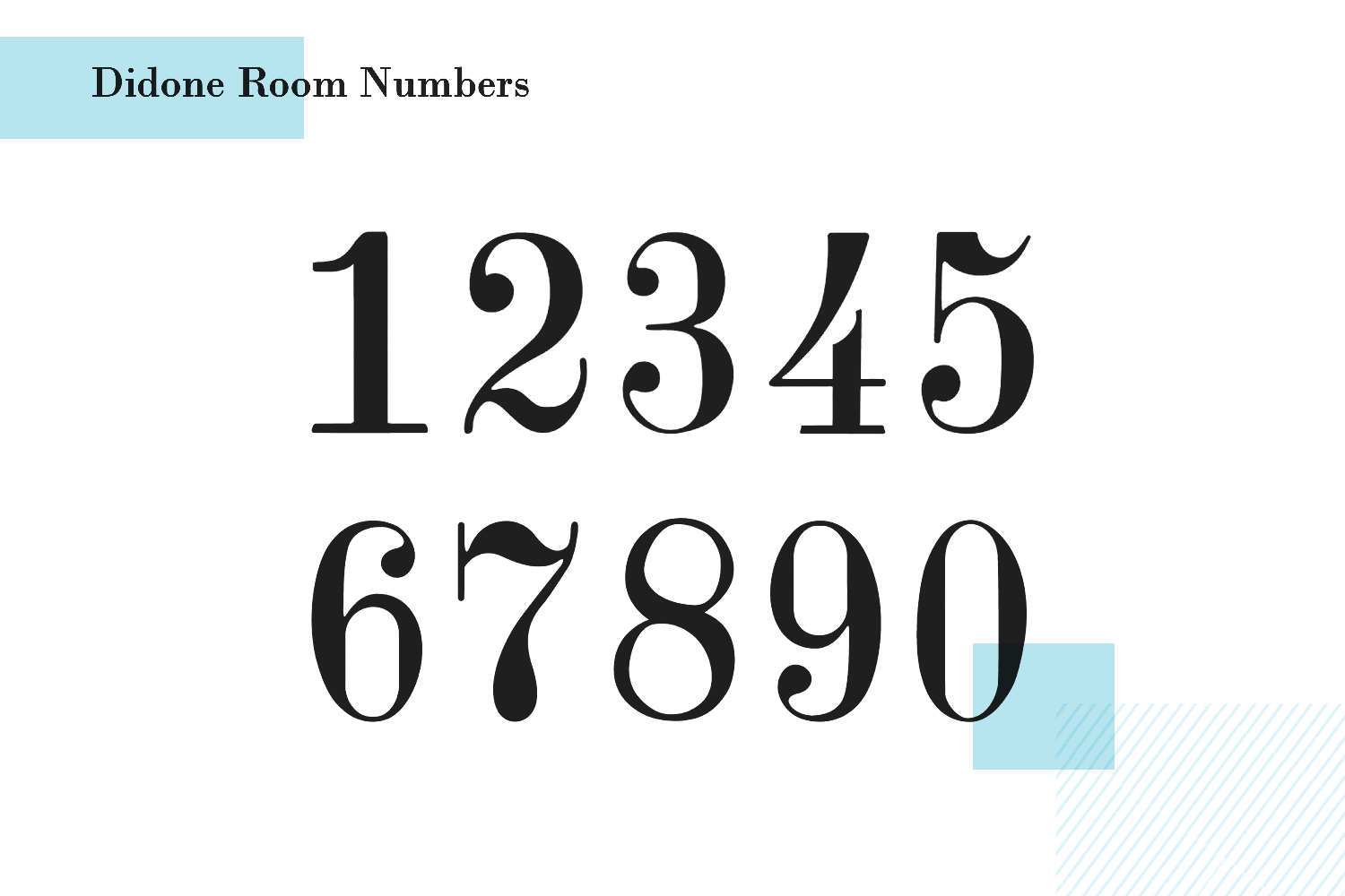 didone room number font - paid