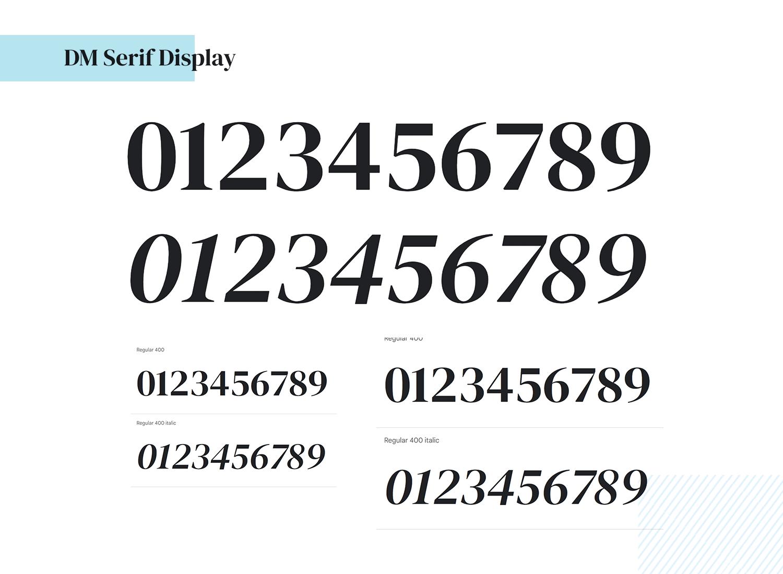 DM serif display font