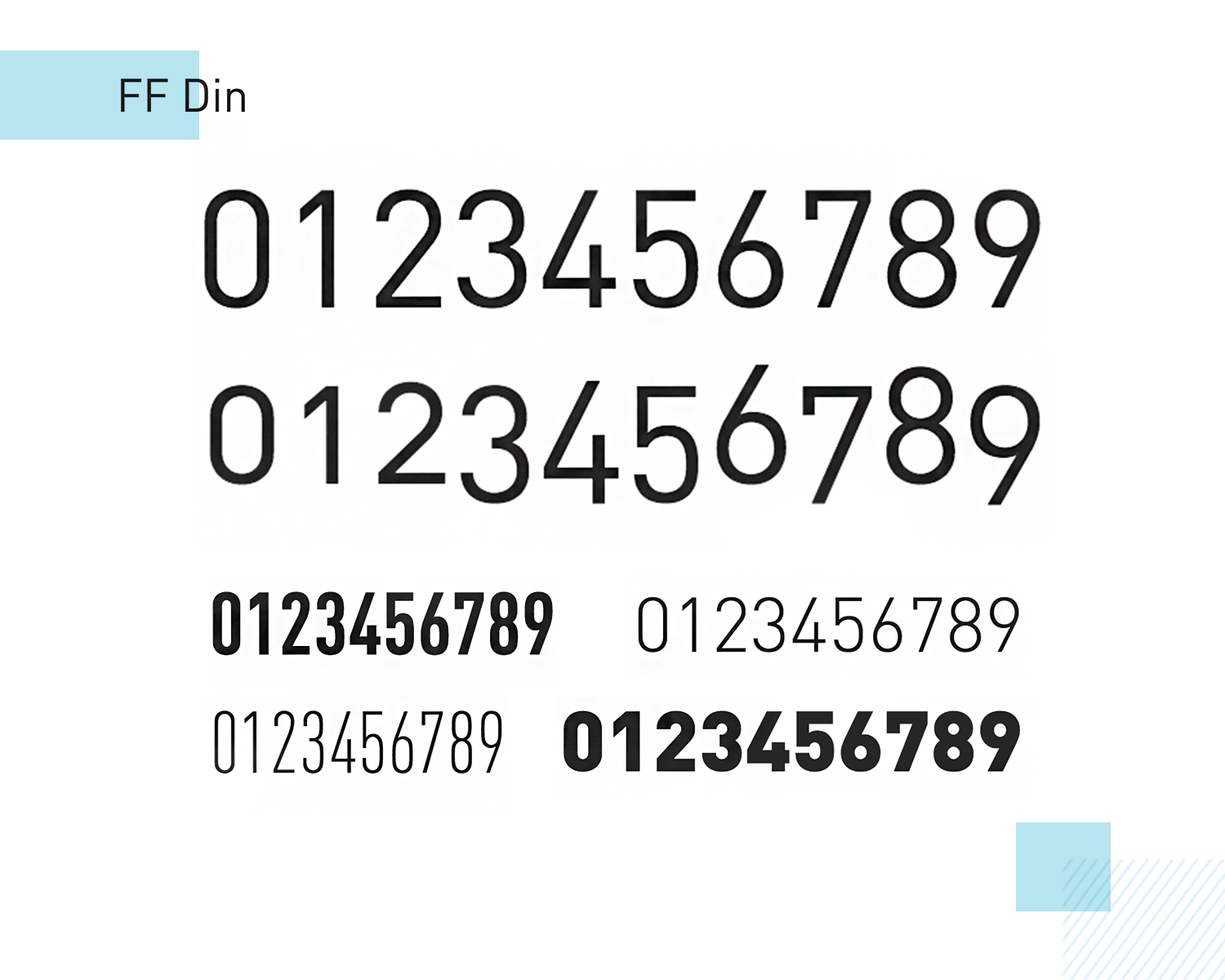 ff din as paid number font