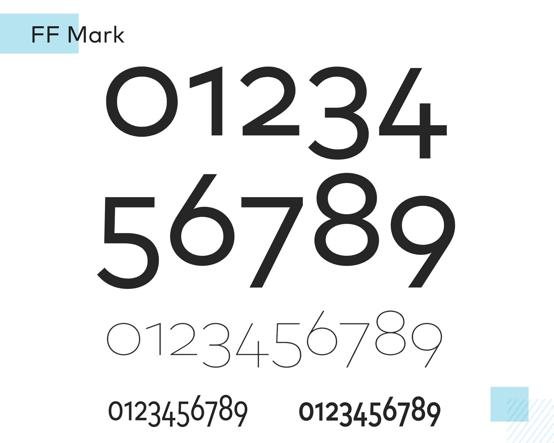 Best number fonts - FF Mark
