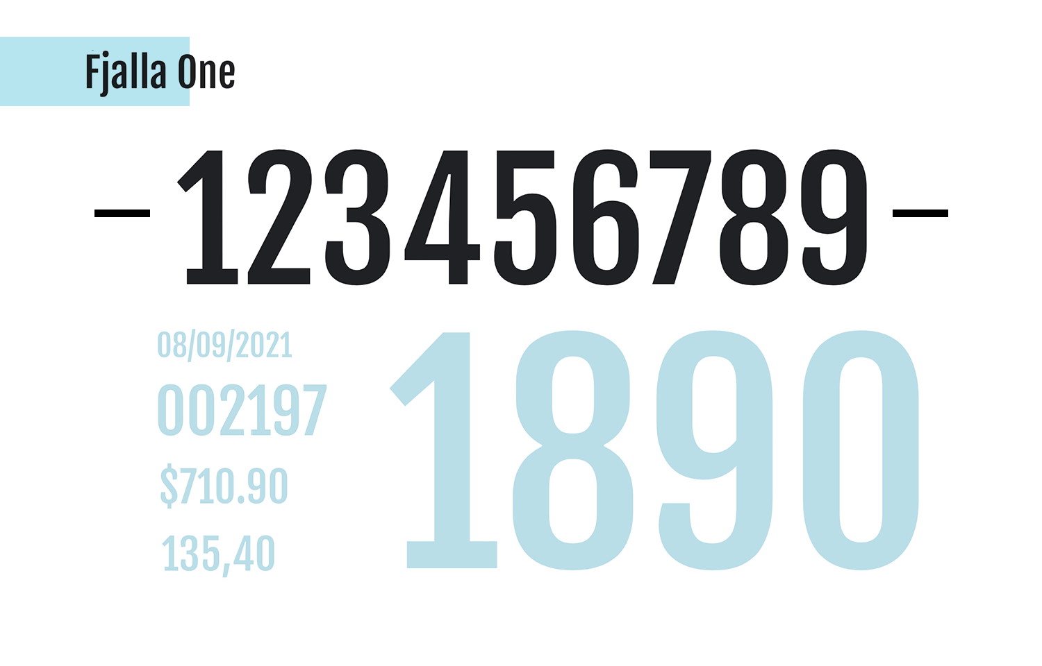 fjalla one as awesome free number font