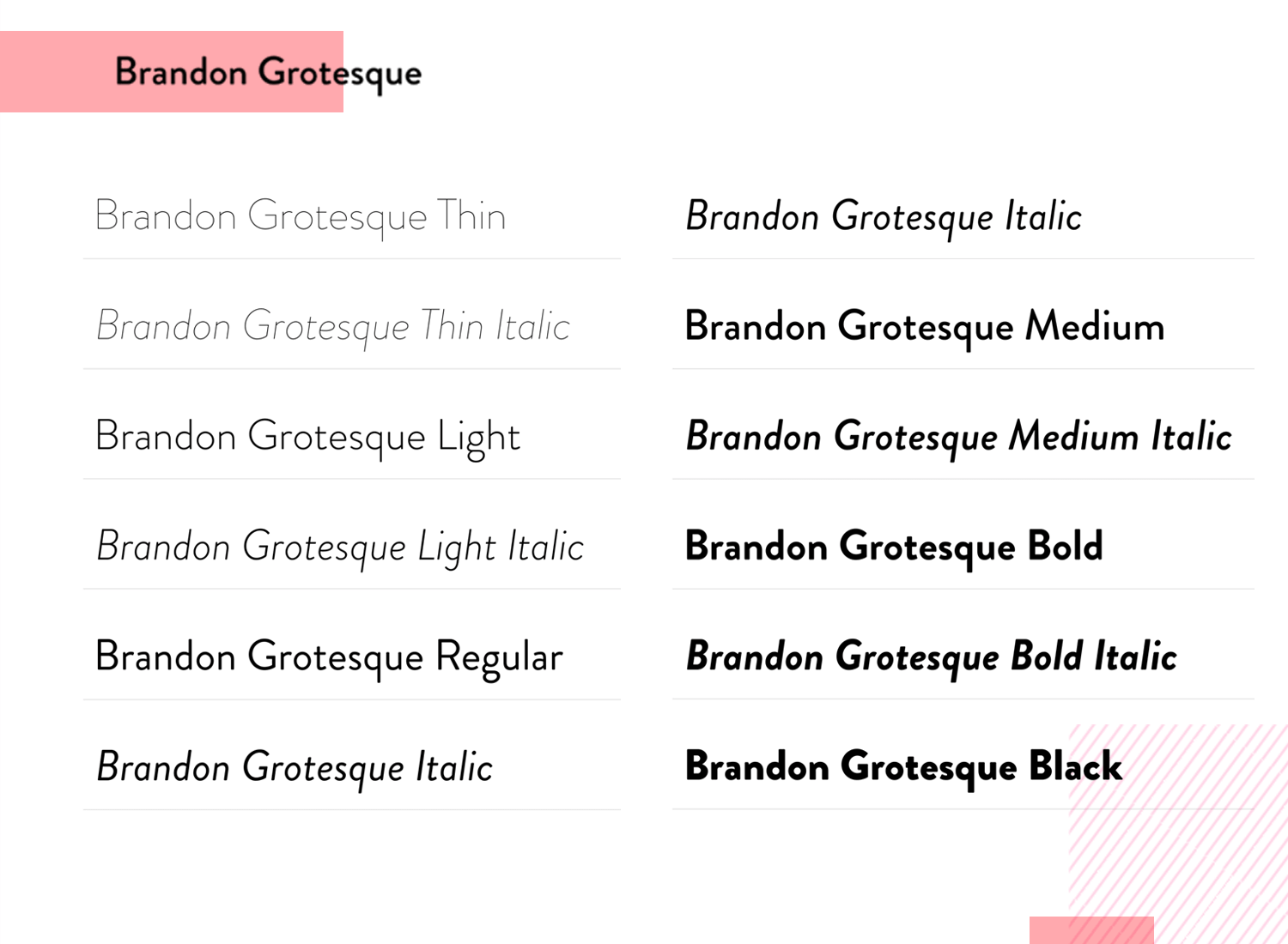 Fonts for mobile apps - Brandon Grotesque
