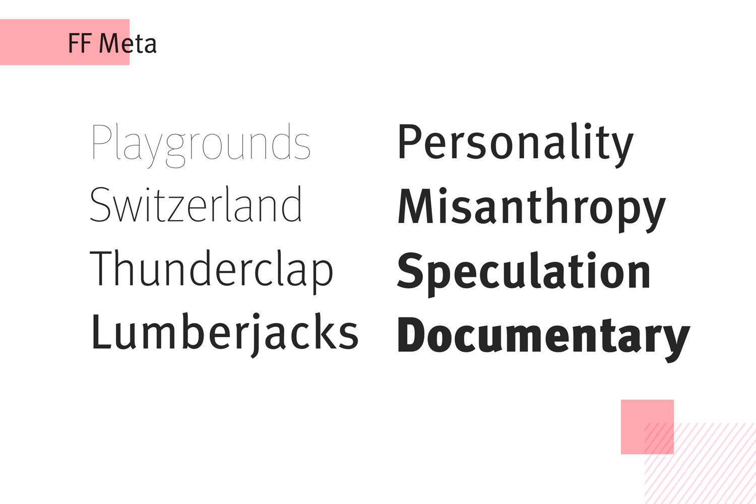 Fonts for mobile apps - FF Meta