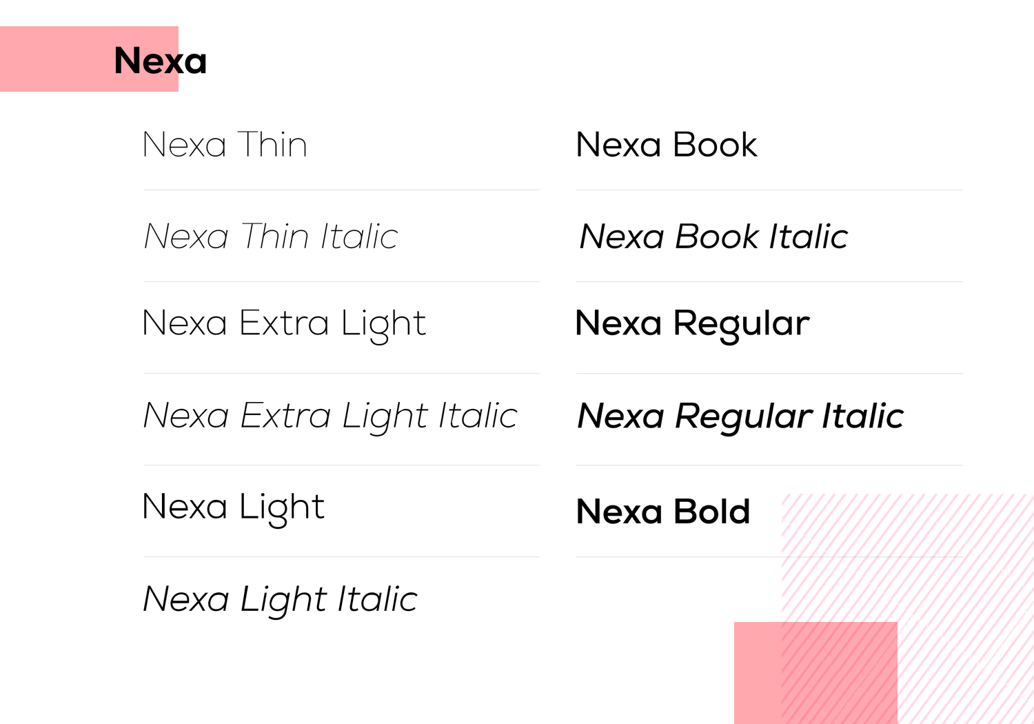 Fonts for mobile apps - Nexa