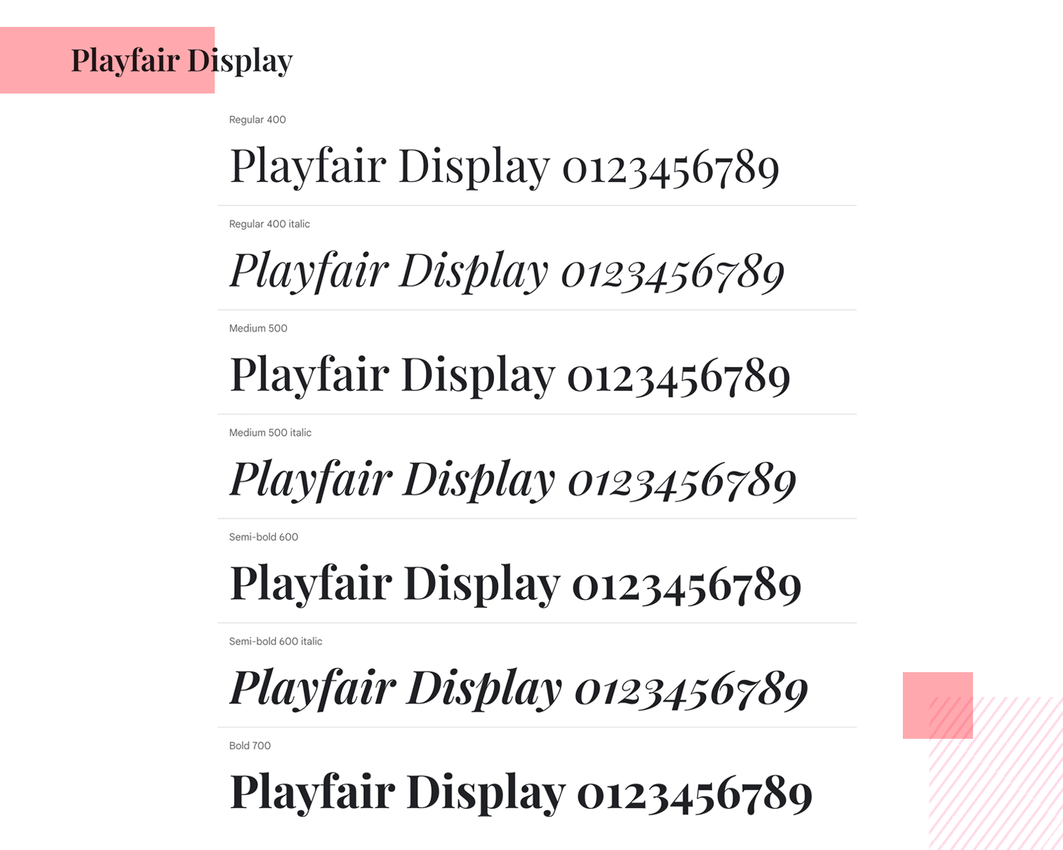 Fonts for mobile apps - Playfair Display