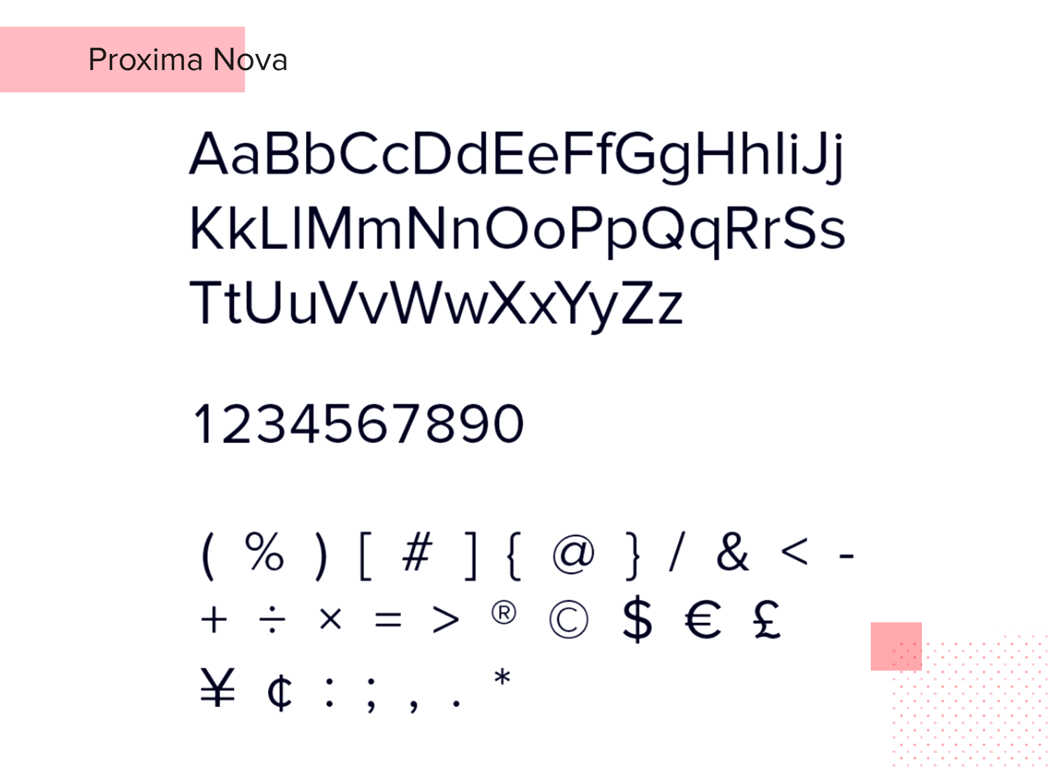 Fonts for mobile apps - Proxima Nova