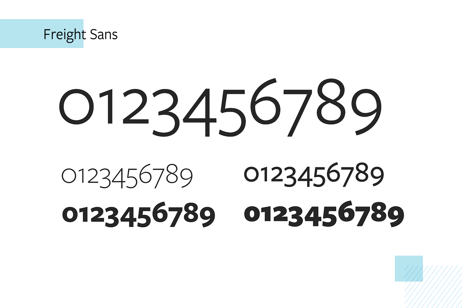 freight sans as paid number font