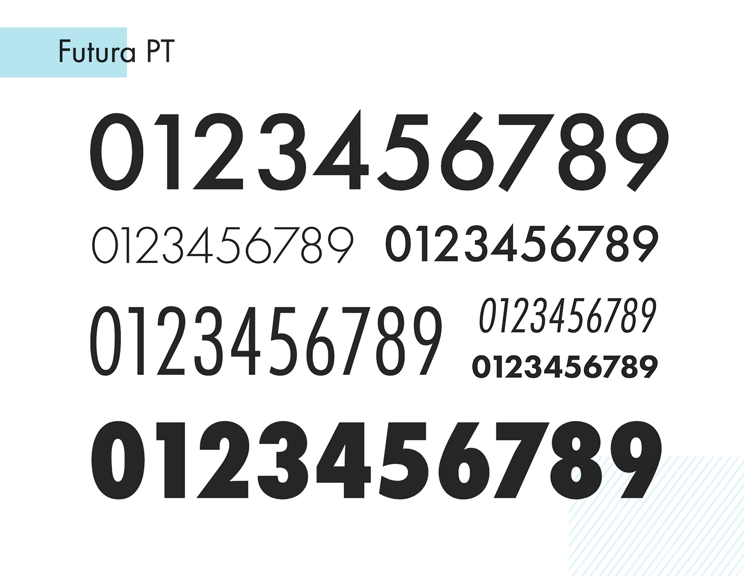 futura pt as awesome paid number font