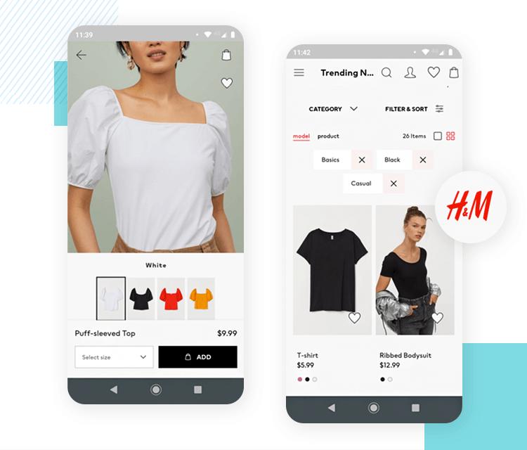h&m as best ecommerce app design