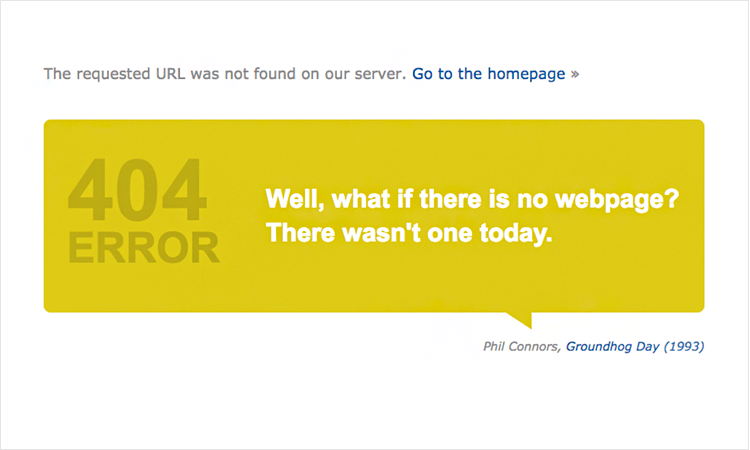 imdb as example of error page design that is funny