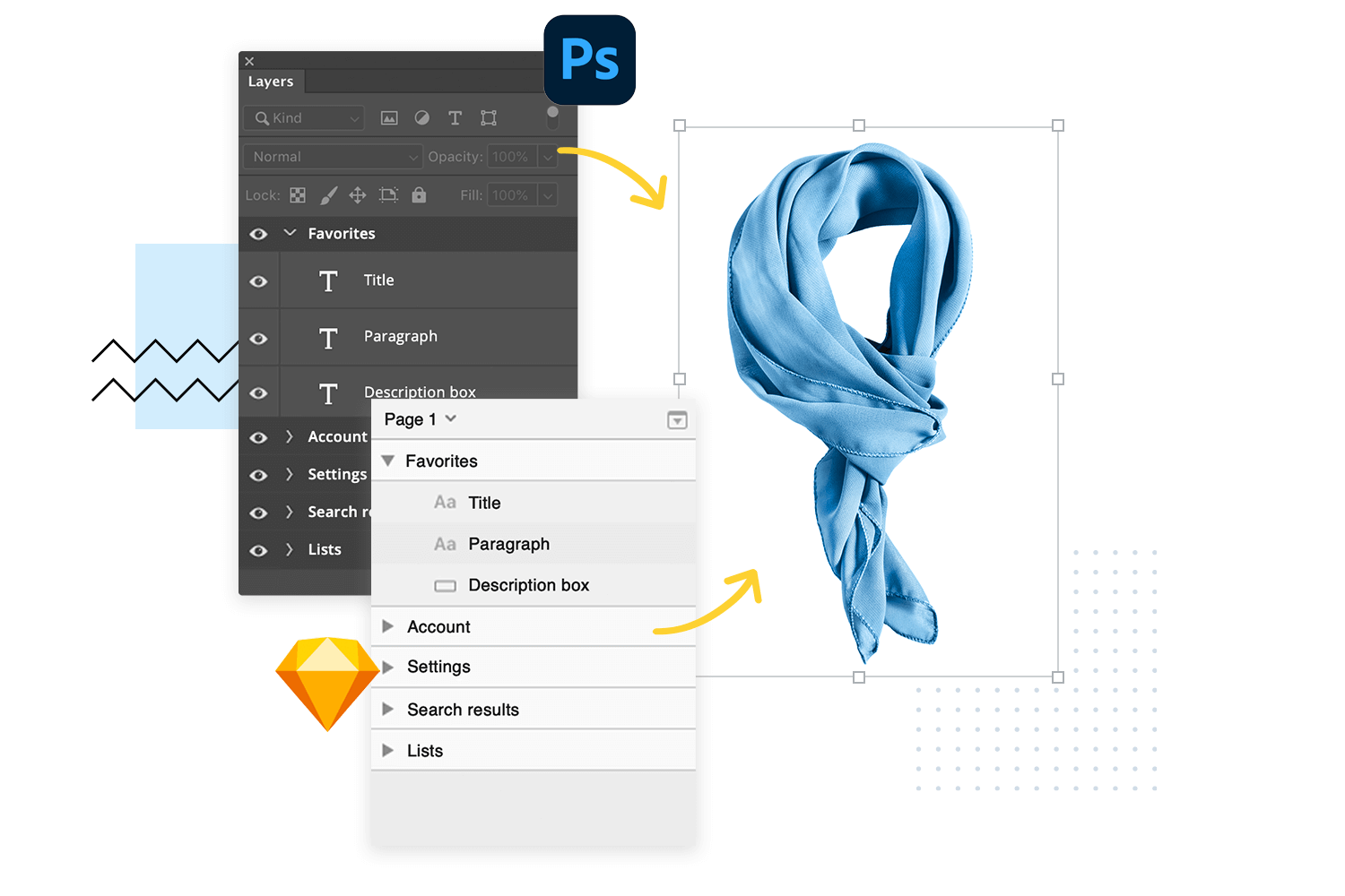 Justinmind plugin: import from sketch