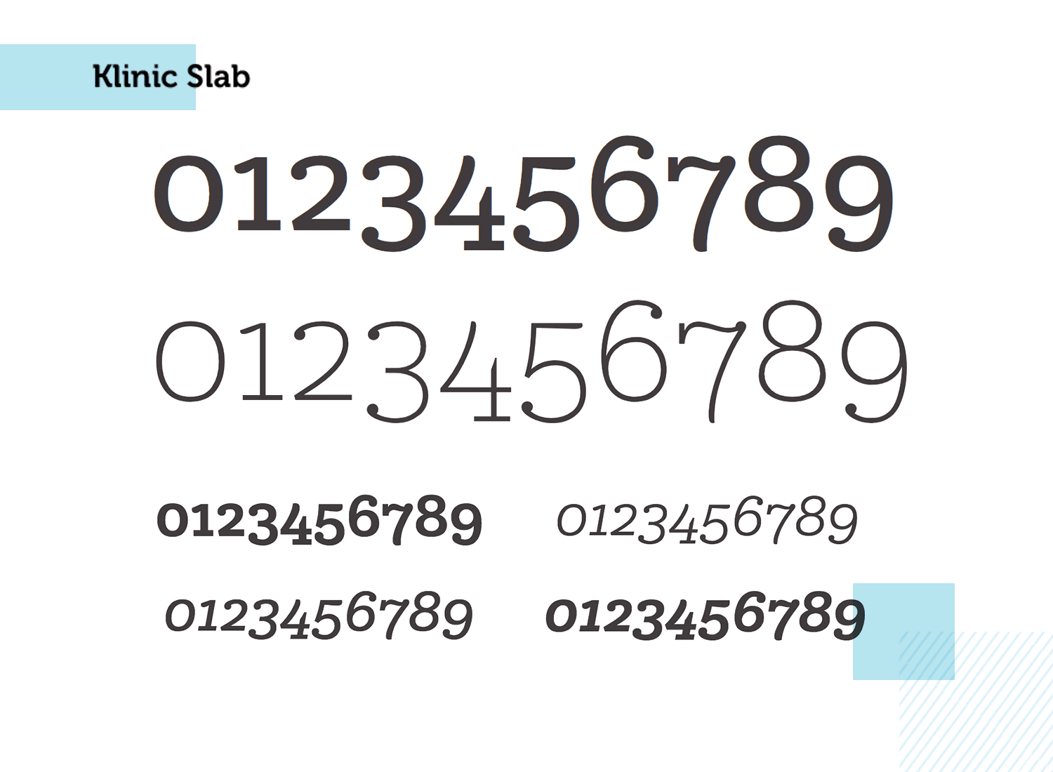 klinic slab as one of the best paid number typeface